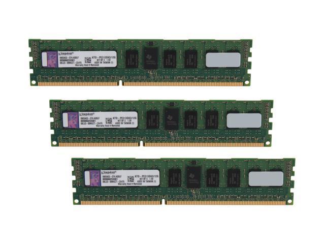 Kingston 12GB (3 x 4GB) 240-Pin DDR3 SDRAM DDR3 1333 ECC Registered System Specific Memory Model KTD-PE313SK3/12G