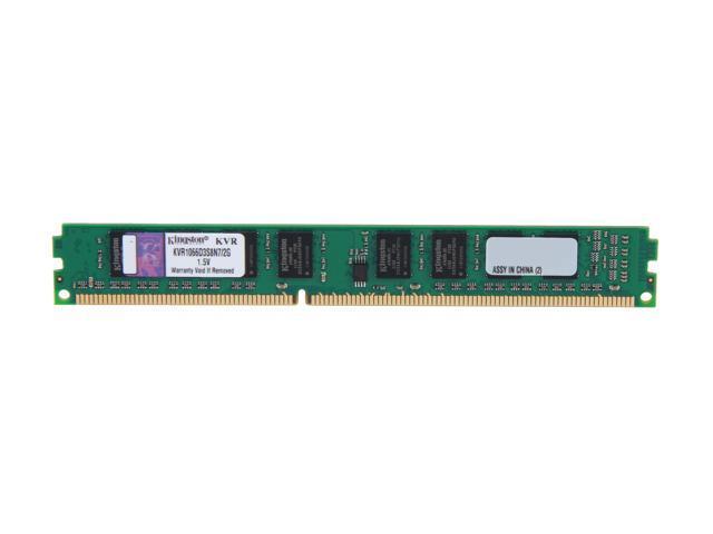 Kingston Value 2GB 240-Pin DDR3 SDRAM DDR3 1066 (PC3 8500) Desktop Memory Model KVR1066D3S8N7/2G