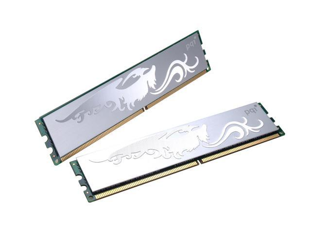 PQI TURBO 4GB (2 x 2GB) 240-Pin DDR2 SDRAM DDR2 667 (PC2 5400) Dual Channel Kit Desktop Memory Model PQI25400-4GDB