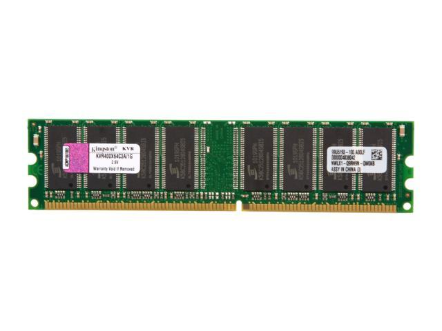 Kingston ValueRAM 1GB 184-Pin DDR SDRAM DDR 400 (PC 3200) Desktop Memory Model KVR400X64C3A/1G