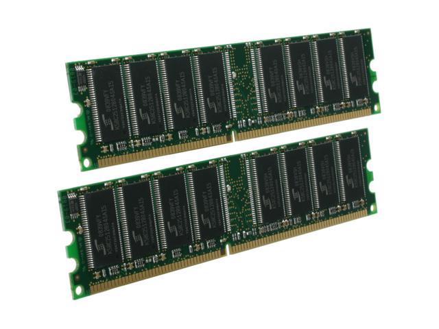 Kingston 2GB (2 x 1GB) 184-Pin DDR SDRAM DDR 400 (PC 3200) Desktop Memory Model KVR400X64C3AK2/2G