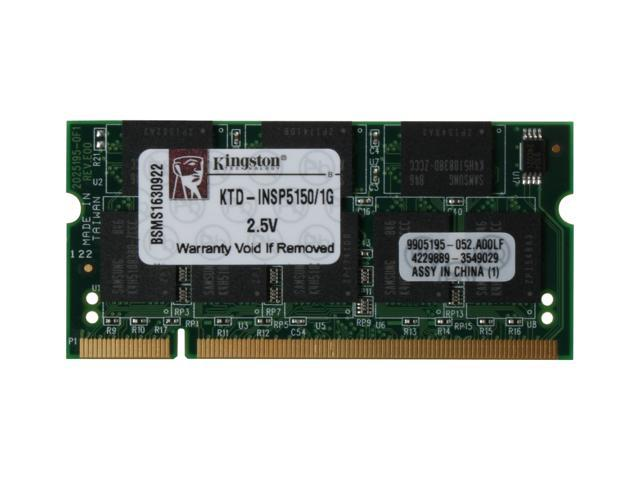 Kingston 1GB 200-Pin DDR SO-DIMM Unbuffered DDR 333 (PC 2700) Laptop Memory Model KTD-INSP5150/1G