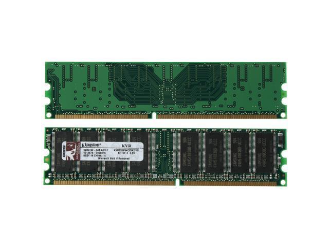 Kingston ValueRAM 1GB (2 x 512MB) 184-Pin DDR SDRAM DDR 333 (PC 2700) Dual Channel Kit Desktop Memory Model KVR333X64C25K2/1G