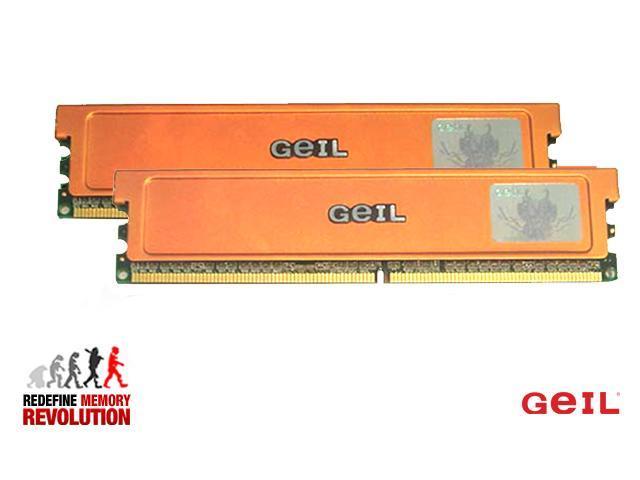 GeIL Ultra 2GB (2 x 1GB) 240-Pin DDR2 SDRAM DDR2 1066 (PC2 8500) Dual Channel Kit Desktop Memory Model GX22GB8500PDC