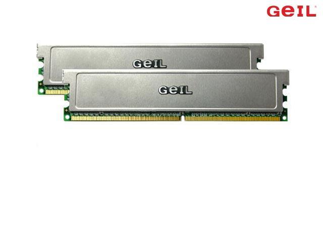 GeIL 1GB (2 x 512MB) 240-Pin DDR2 SDRAM DDR2 667 (PC2 5300) Dual Channel Kit Desktop Memory Model GX21GB5300LDCK=