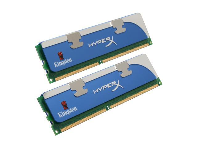 Kingston HyperX 1GB (2 x 512MB) 184-Pin DDR SDRAM DDR 400 (PC 3200) Dual Channel Kit Desktop Memory Model KHX3200AK2/1G