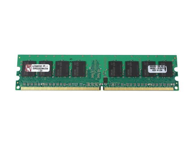 Kingston ValueRAM 256MB 240-Pin DDR2 SDRAM DDR2 533 (PC2 4200) Desktop Memory Model KVR533D2N4/256 - OEM