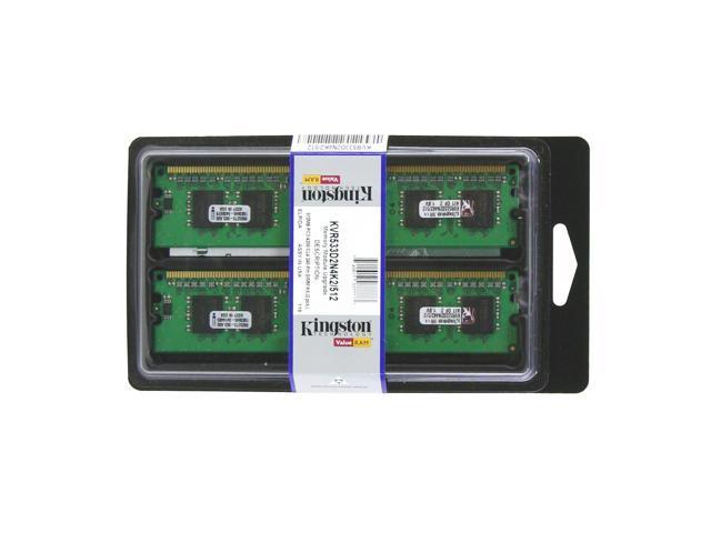 Kingston ValueRAM 512MB (2 x 256MB) 240-Pin DDR2 SDRAM DDR2 533 (PC2 4200) Dual Channel Kit Desktop Memory Model KVR533D2N4K2/512
