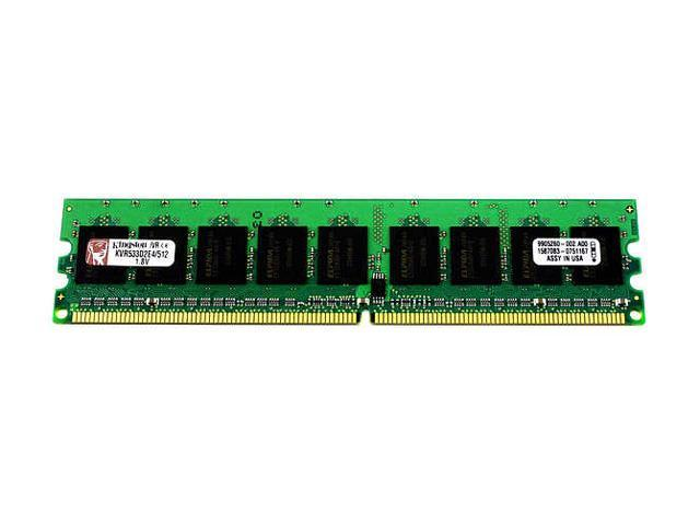 Kingston ValueRAM 512MB 240-Pin DDR2 SDRAM ECC Unbuffered DDR2 533 (PC2 4200) Server Memory Model KVR533D2E4/512