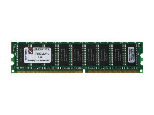 Kingston ValueRAM 1GB 184-Pin DDR SDRAM ECC Unbuffered DDR 400 (PC 3200) Server Memory Model KVR400X72C3A/1G