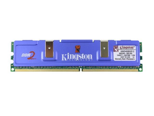 Kingston HyperX 512MB 240-Pin DDR2 SDRAM DDR2 675 (PC2 5400) Desktop Memory Model KHX5400D2/512