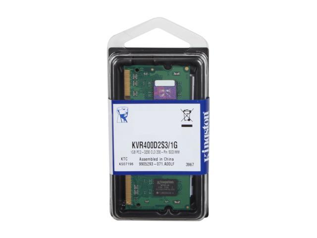 Kingston Value Series 1GB 200-Pin DDR2 SO-DIMM DDR2 400 (PC2 3200) Laptop Memory Model KVR400D2S3/1G
