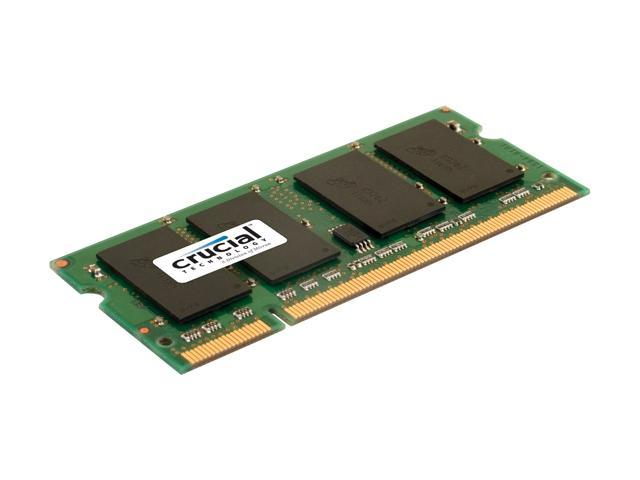 Crucial 1GB 200-Pin DDR2 SO-DIMM DDR2 667 (PC2 5300) Laptop Memory Model CT12864AC667 - OEM