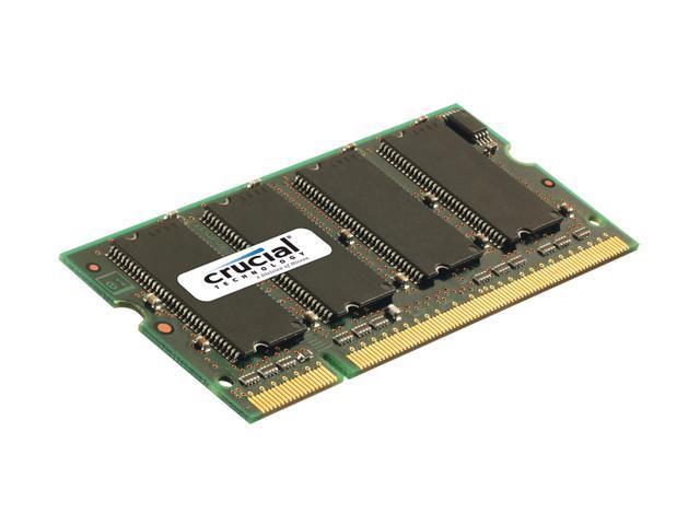 Crucial 1GB 200-Pin DDR SO-DIMM DDR 400 (PC 3200) Laptop Memory Model CT12864X40B