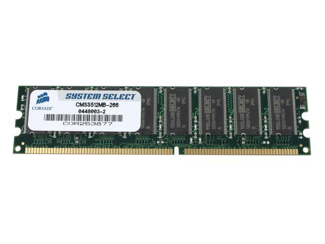 CORSAIR 512MB 184-Pin DDR SDRAM Unbuffered DDR 266 (PC 2100) System Specific Memory For Dell Model CMSS512MB-266