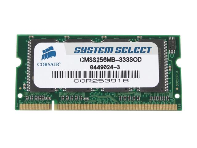 CORSAIR 256MB 200-Pin DDR SO-DIMM Unbuffered DDR 333 (PC 2700) System Specific Memory For HP/Compaq Model CMSS256MB-333SOD