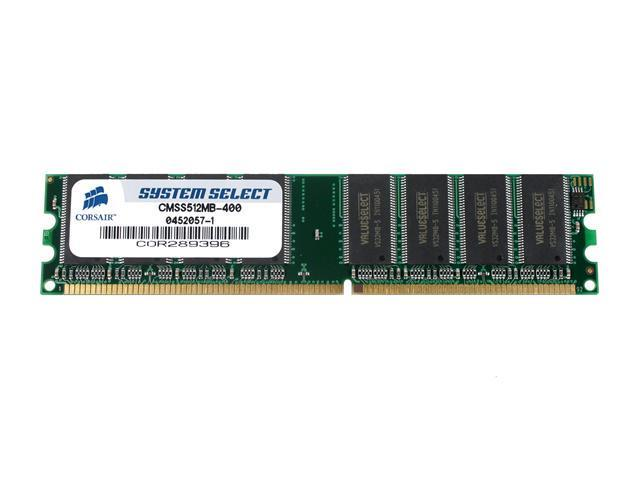 CORSAIR 512MB 184-Pin DDR SDRAM Unbuffered DDR 400 (PC 3200) System Specific Memory Model CMSS512MB-400