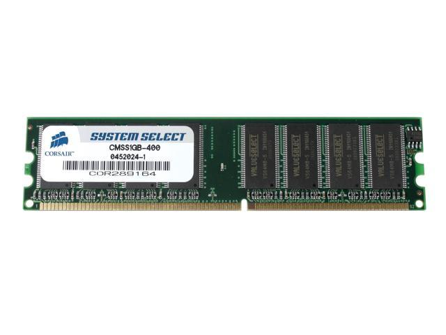 CORSAIR 1GB 184-Pin DDR SDRAM Unbuffered DDR 400 (PC 3200) System Specific Memory For Apple Model CMSS1GB-400