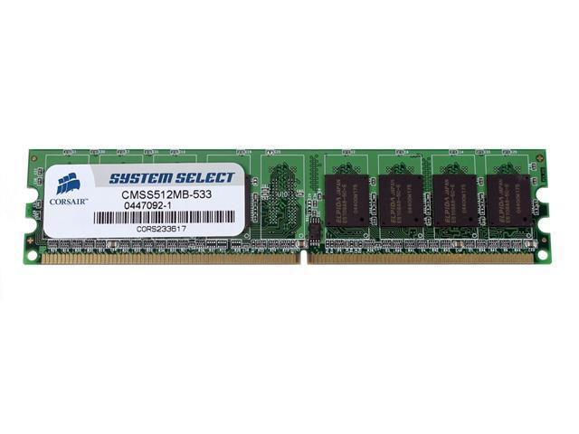 CORSAIR 512MB 240-Pin DDR2 SDRAM Unbuffered DDR2 533 (PC2 4200) System Specific Memory Model CMSS512MB-533