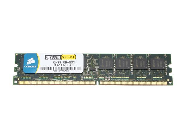 CORSAIR 1GB 240-Pin DDR2 SDRAM Unbuffered DDR2 533 (PC2 4200) System Specific Memory Model CMSS1GB-533