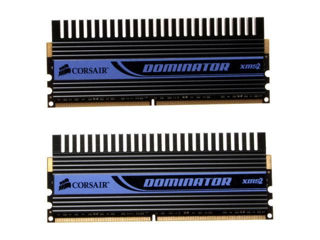 CORSAIR Dominator 2GB (2 x 1GB) 240-Pin DDR2 SDRAM DDR2 800 (PC2 6400) Dual Channel Kit Desktop Memory Model TWIN2X2048-6400C3DF