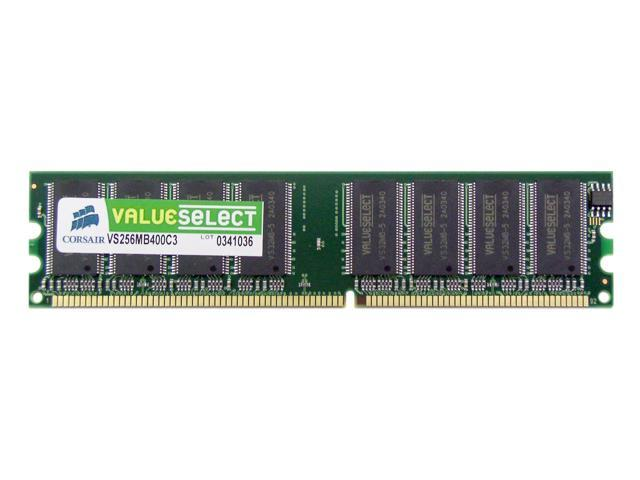 CORSAIR ValueSelect 256MB 184-Pin DDR SDRAM DDR 400 (PC 3200) Desktop Memory Model VS256MB400C3