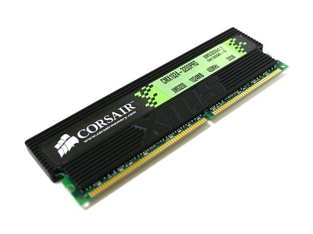 CORSAIR XMS 1GB 184-Pin DDR SDRAM DDR 400 (PC 3200) Desktop Memory Model CMX1024-3200PRO