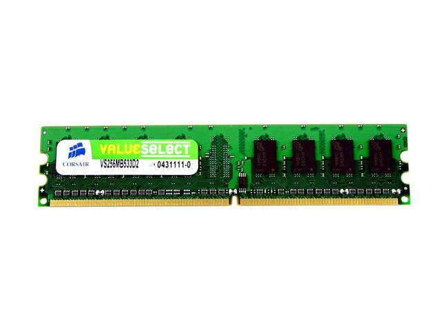 CORSAIR ValueSelect 256MB 240-Pin DDR2 SDRAM DDR2 533 (PC2 4200) Desktop Memory Model VS256MB533D2