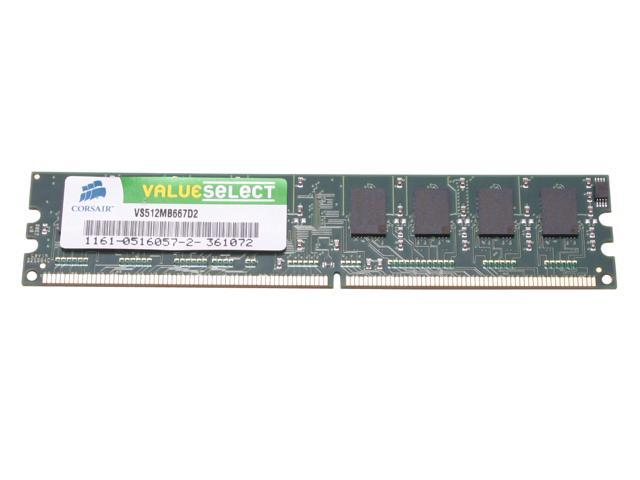CORSAIR ValueSelect 512MB 240-Pin DDR2 SDRAM DDR2 667 (PC2 5300) Desktop Memory Model VS512MB667D2