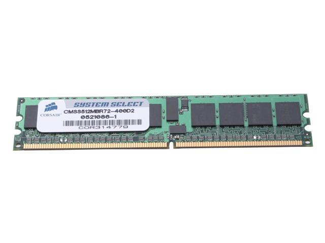 CORSAIR 512MB 240-Pin DDR2 SDRAM ECC Registered DDR2 400 (PC2 3200) System Specific Memory For Dell Model CMSS512MBR72-400D2