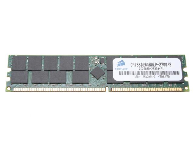 CORSAIR 2GB 184-Pin DDR SDRAM ECC Registered DDR 333 (PC 2700) Server Memory Model CM75SD2048RLP-2700