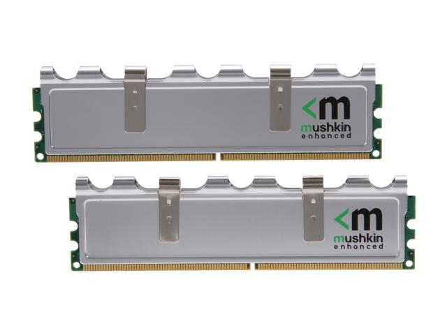 Mushkin Enhanced Silverline 2GB (2 x 1GB) 240-Pin DDR2 SDRAM DDR2 800 (PC2 6400) Dual Channel Kit Desktop Memory Model 996527