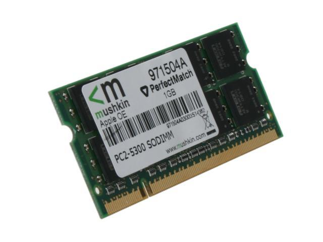 Mushkin Enhanced 1GB DDR2 667 (PC2 5300) Memory for Apple Notebook Model 971504A