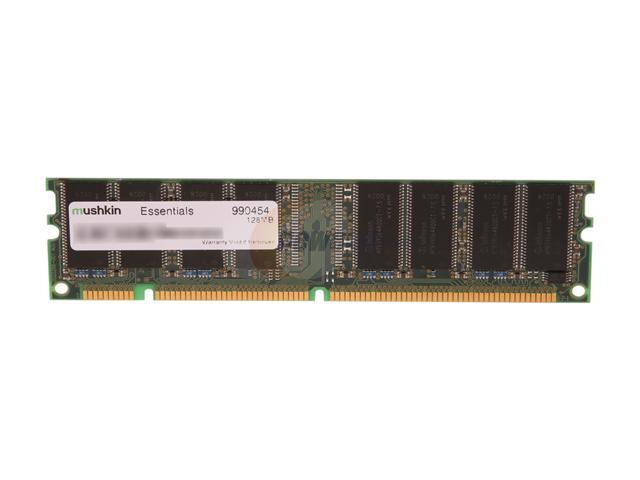 Mushkin Enhanced Essentials 128MB 168-Pin SDRAM PC 133 Desktop Memory Model 990454