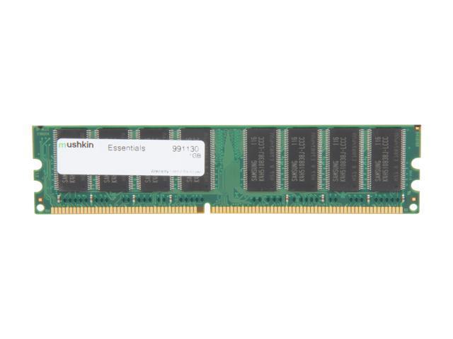 Mushkin Enhanced Essentials 1GB 184-Pin DDR SDRAM DDR 400 (PC 3200) Desktop Memory Model 991130