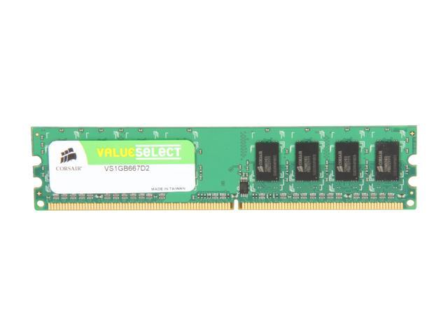 CORSAIR ValueSelect 1GB 240-Pin DDR2 SDRAM DDR2 667 (PC2 5300) Desktop Memory Model VS1GB667D2