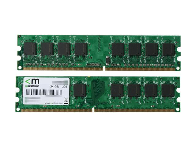 Mushkin Enhanced Essentials 2GB (2 x 1GB) 240-Pin DDR2 SDRAM DDR2 800 (PC2 6400) Dual Channel Kit Desktop Memory Model 996529