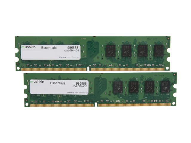 Mushkin Enhanced 4GB (2 x 2GB) 240-Pin DDR2 SDRAM DDR2 800 (PC2 6400) Dual Channel Kit Desktop Memory Model 996558