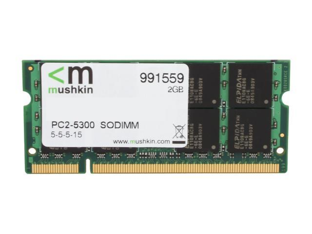 Mushkin Enhanced Essentials 2GB 200-Pin DDR2 SO-DIMM DDR2 667 (PC2 5300) Laptop Memory Model 991559