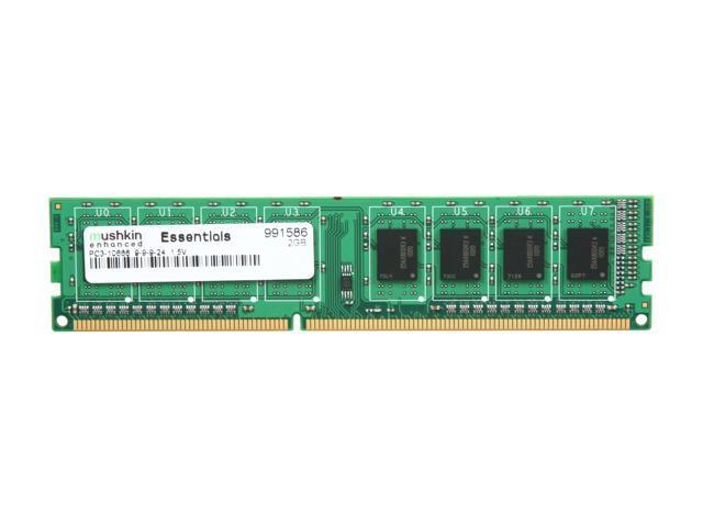 Mushkin Enhanced Essentials 2GB 240-Pin DDR3 SDRAM DDR3 1333 (PC3 10666) Desktop Memory Model 991586