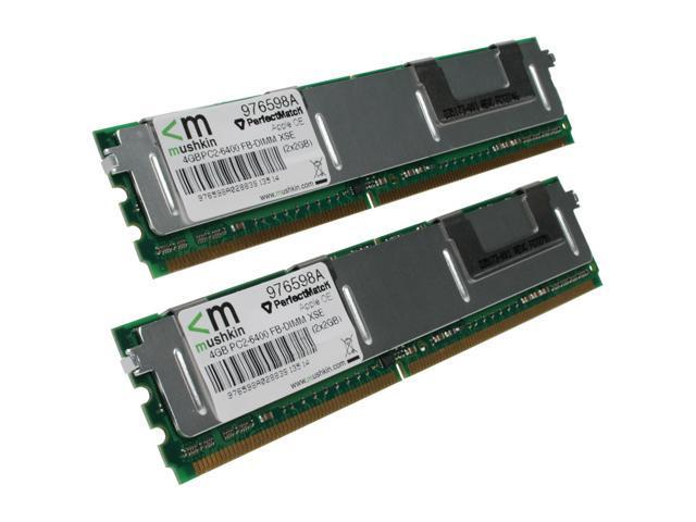 Mushkin Enhanced 4GB (2 x 2GB) 240-Pin DDR2 FB-DIMM DDR2 800 (PC2 6400) Memory For Apple  XSERVE Model 976598a