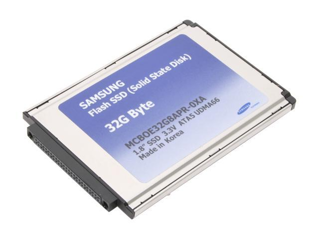 "SAMSUNG MCBOE32G8APR-0XA00 1.8"" 32GB PATA Internal Solid State Drive (SSD)"