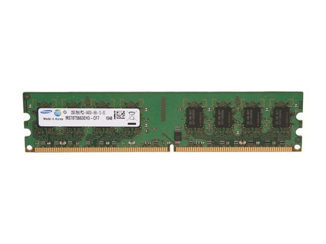 SAMSUNG 2GB 240-Pin DDR2 SDRAM DDR2 800 (PC2 6400) Desktop Memory Model M378T5663EH3-CF7
