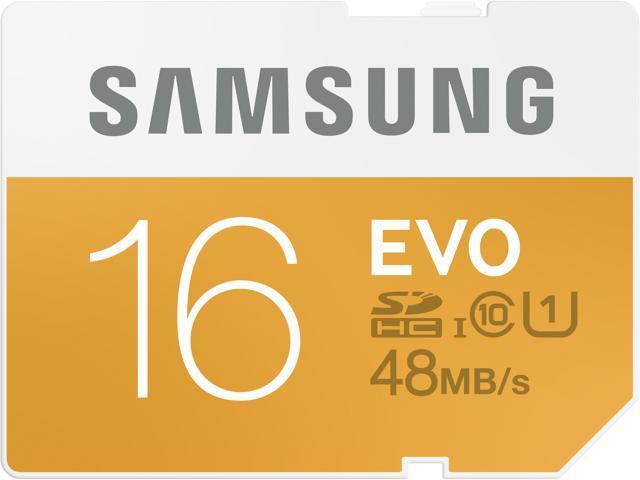 Samsung 16GB EVO SDHC UHS-I/U1 Class 10 Memory Card (MB-SP16D/AM)