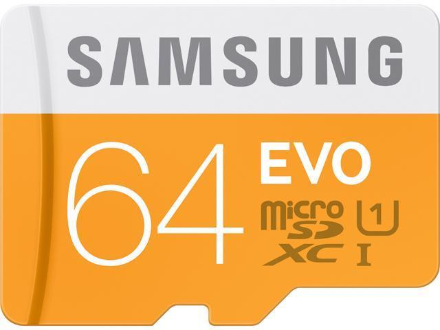 Samsung 64GB EVO microSDXC UHS-I/U1 Class 10 Memory Card with Adapter (MB-MP64DA/AM)