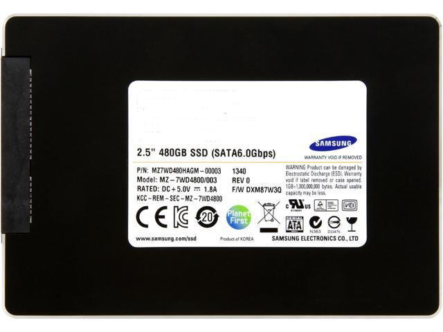 "SAMSUNG SM843T Data Center Series MZ7WD480HAGM-00003 2.5"" 480GB SATA 6.0Gb/s MLC Enterprise Solid State Drive - OEM"