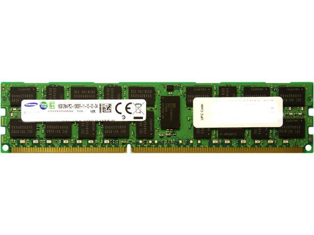 SAMSUNG 16GB 240-Pin DDR3 SDRAM ECC Registered DDR3 1600 (PC3 12800) Server Memory Model M393B2G70DB0-CK0