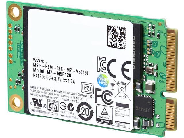 SAMSUNG 850 EVO mSATA 120GB SATA III Internal SSD Single Unit Version MZ-M5E120BW
