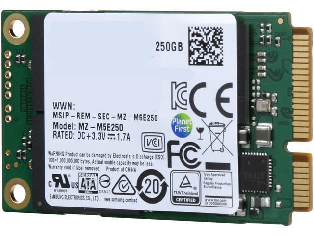 SAMSUNG 850 EVO mSATA 250GB SATA III 3D NAND Internal SSD Single Unit  Version MZ-
