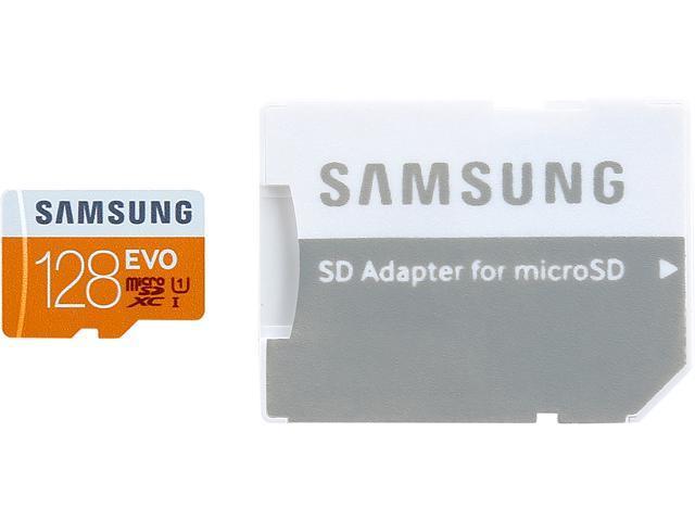 SAMSUNG EVO 128GB microSDXC Flash Card Model MB-MP128DA/CA